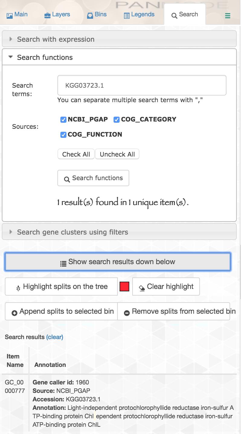 accession search